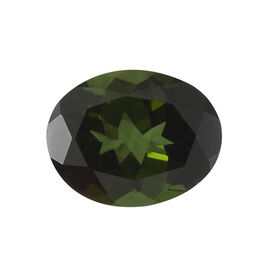 AAAA Green Tourmaline Oval 10x8 Faceted 3.08 Cts