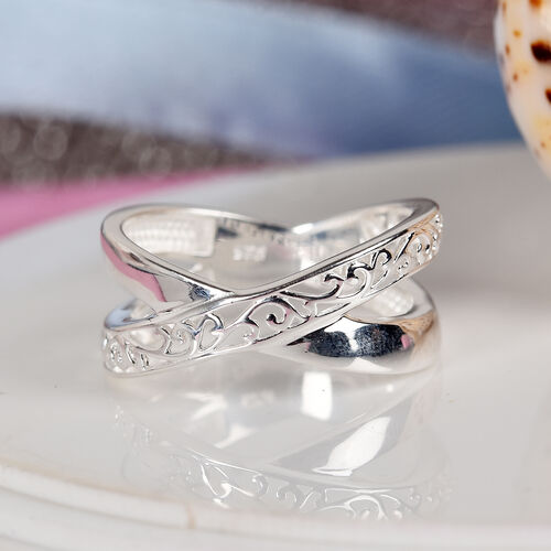 Sterling Silver Filigree Criss Cross Ring