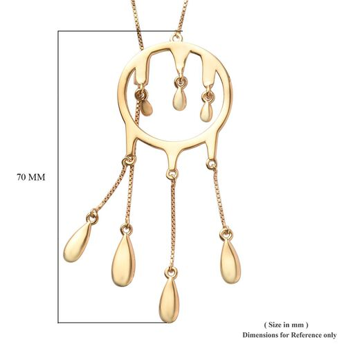 LucyQ Adjustable Drip Necklace (Size 30) in 14K Gold Overlay Sterling Silver
