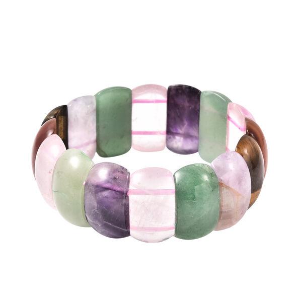 Multi Gemstone Stretchable Bracelet 7 Inch