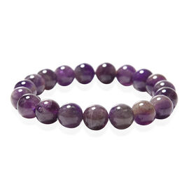 Amethyst Beaded Stretchable Bracelet (Size 6.5) 128.90 Ct.