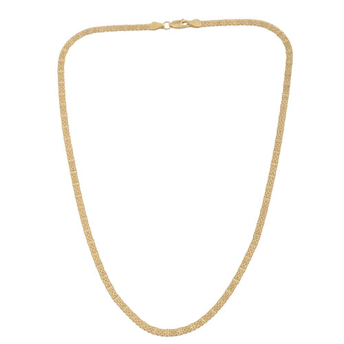 JCK Vegas Collection 14K Gold Overlay Sterling Silver Bismark Chain (Size 20), Silver wt. 6.20 Gms.