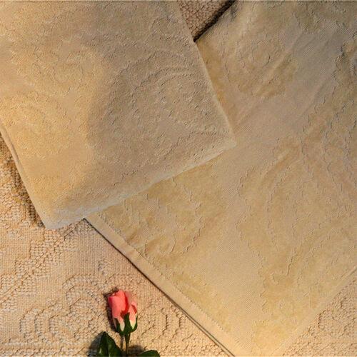 Luxury Edition - Set of 2 - 100% Cotton 500 GSM Velour Sculpted Towel Sand-Shell Colour (Hand 50x90 cm Bath 70x140 cm)