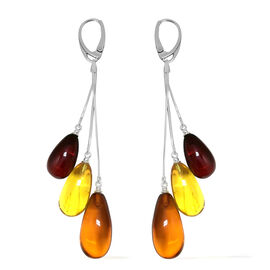Baltic Amber (Fancy Shape) Lever Back Earrings in Sterling Silver 52.000 Ct.