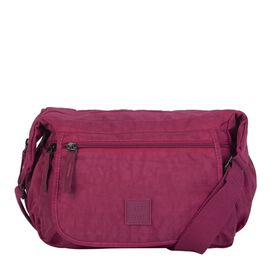 Artsac - Plum Colour Medium Size Crossbody Bag with Zip Top