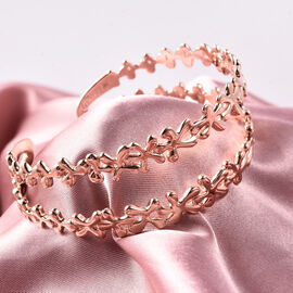 LucyQ Splash Cuff Bangle in Rose Gold Plated Sterling Silver 7.5 Inch