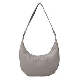 ASSOTS LONDON Luna Genuine Pebble Grain Leather Hobo Shoulder Bag - Ice Grey