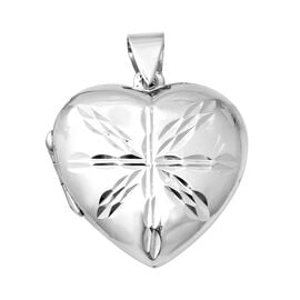 Designer Inspired Sterling Silver Heart Locket, Silver wt 6.72 Gms