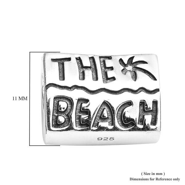 Charmes De Memoire Platinum Overlay Sterling Silver Beach Charm
