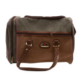 Classic Pebbled Leather Look Travellers Duffle Bag (29x42x22cm) With Adjustable and Removable Strap