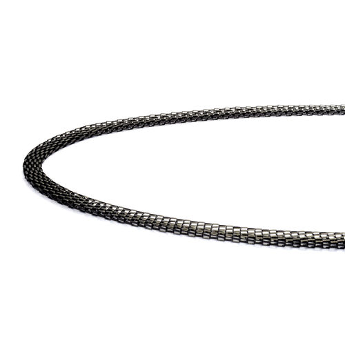 ION Plated Black Stainless Steel Necklace (Size 22)