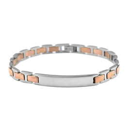 Designer Inspired- Rose Gold Plated Bracelet (Size 7.5) in Stainless Steel