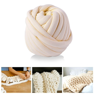 100% Cotton Filled Thick Rope in Beige (760cm)