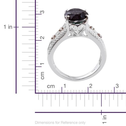 Colour Change Alexandrite Quartz (Ovl 3.65 Ct), Bekily Colour Change Garnet Ring in Sterling Silver 3.750 Ct.