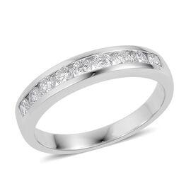 ILIANA 0.50 Carat Diamond (SI/G-H) Half Eternity Band Ring in 18K White Gold