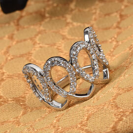 RACHEL GALLEY 950 Platinum IGI Certified Diamond (VS/E-F) Ring  1.00 Ct.