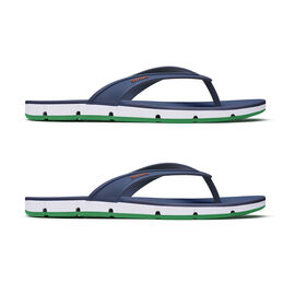 Swims Breeze Men's Flip Flop Sandals in Navy and Jolly Green Colour