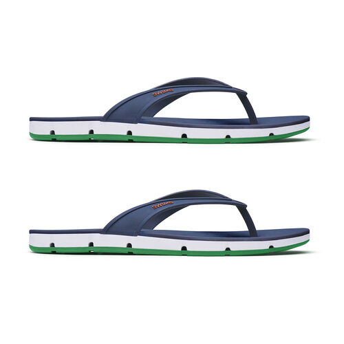 Swims Breeze Mens Flip Flop Sandals (Size 8) - Navy and Jolly Green