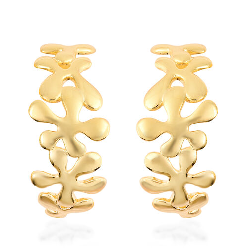 LucyQ - Splash Earrings (with Push Back) in Yellow Gold Overlay Sterling Silver