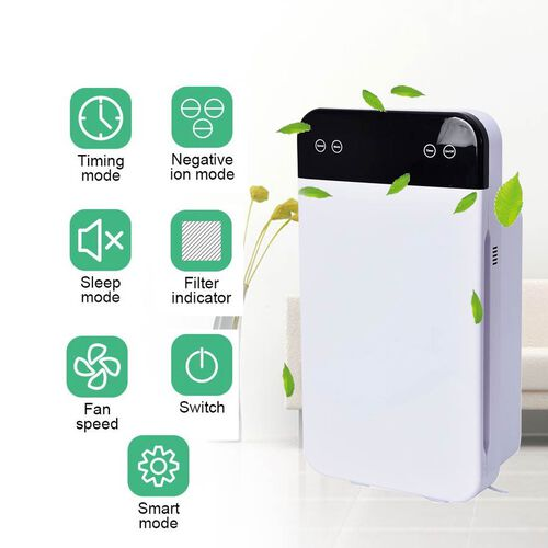 PM2.5 6-Stage Multifunctional Air Purifier, Remote Controlled with HEPA Filter and Activated Carbon