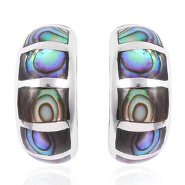Royal Bali Collection - Abalone Shell Earrings in Sterling Silver 4.95 Gms