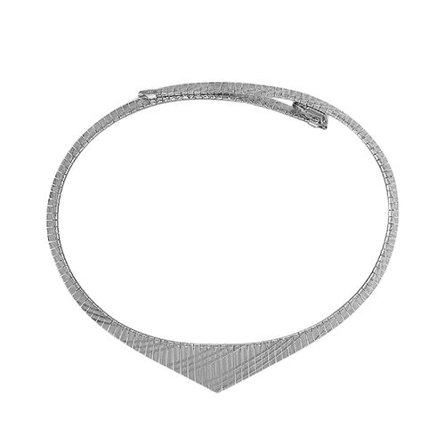 Cleopatra Necklace in Rhodium Plated Sterling Silver 18 Inch