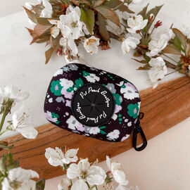 Pet Pooch Boutique- Emerald Forest Poo Bag Holder Floral Print (Size 8x5x5 Cm)- Green & Black