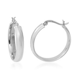 Sterling Silver Hoop Earrings (with Clasp), Silver wt. 6.08 Gms