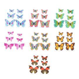 Set of 42 - Multi Colour Magnet 3D Butterflies