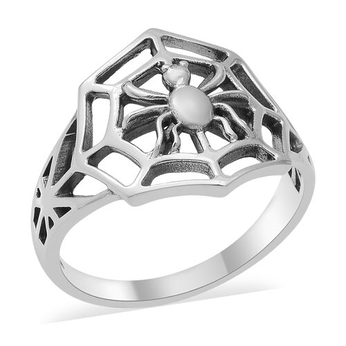 Spider Web Ring in Sterling Silver