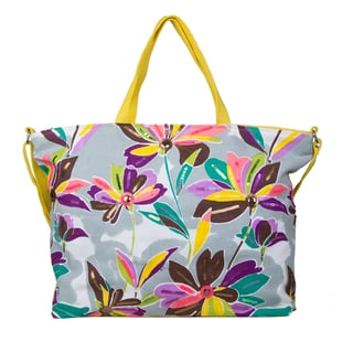 Bulaggi Collection - Flower Design Bess Shopping Bag in Yellow and Multi (Size 39x12x35cm)