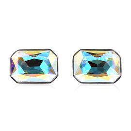 WILLIAM HUNT One Time Deal- Simulated Mercury Mystic Topaz (Oct) Cufflink in Silver Plated
