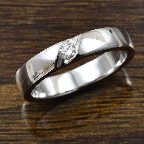 RHAPSODY 950 Platinum IGI Certified Diamond (Rnd) (VS/E-F) Ring 0.080 Ct, Platinum wt 6.71 Gms