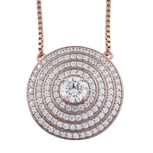 J Francis - Premium Collection Rose Gold Overlay Sterling Silver (Rnd) Adjustable Necklace (Size 18)