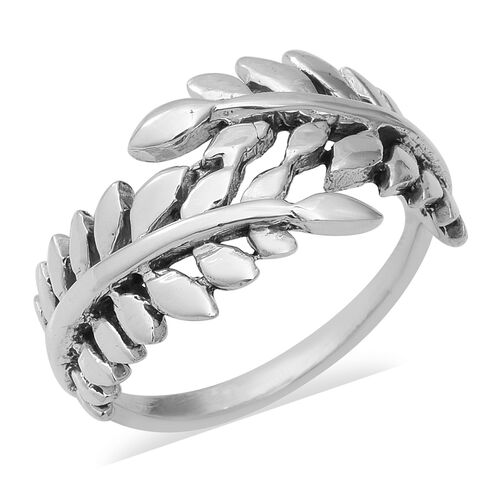 Leaf Bypass Ring in Sterling Silver 4.49 Grams