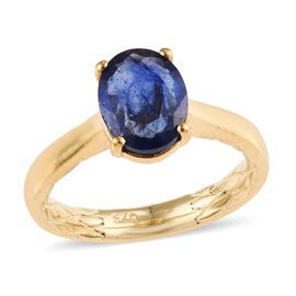 2.25 Ct Masoala Sapphire Solitaire Ring in Gold Plated Sterling Silver