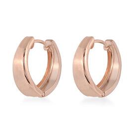 Hoop Earrings with Clasp in 9K Rose Gold 1.42 Grams