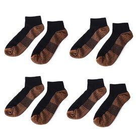 Set of 4 - Copper Infused Socks (Size S/M) - Black