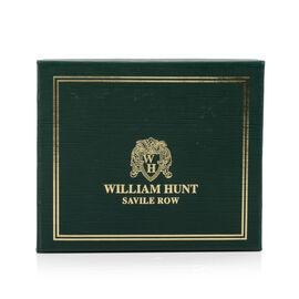 William Hunt - Saville Row 100% Genuine Leather Embossed Wallet - Black