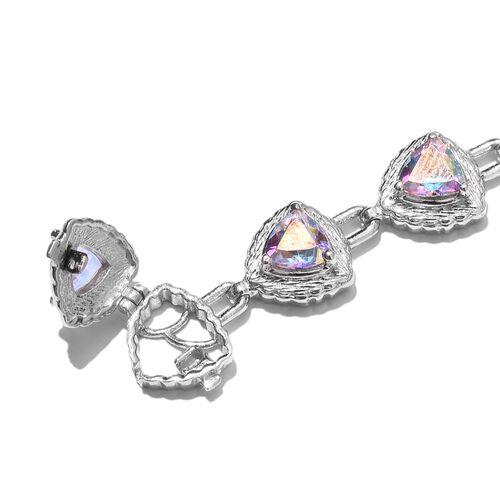 Mercury Mystic Topaz Bracelet (Size 8) in Platinum Overlay Sterling Silver 11.00 Ct, Silver wt. 18.50 Gms