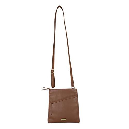 Assots London FLORENCE Pebble Grain Leather Crossbody Sling Bag with Adjustable Shoulder Strap (Size