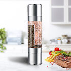 2 in 1 Storage and Manual Grinder (Size 5.2x22.5cm) - Silver