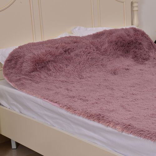 Super-Plush Extra-Long Pile Dusty Pink Colour YETI Blanket (Size 200X150 Cm)