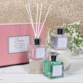 Lesser & Pavey - Set of 3 Desire Diffuser Set Floral - Fresh Lime, Lotus Blooms and Lavender