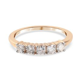 0.50 Ct White Diamond Ring in 14K Yellow Gold,  Gold Wt. 2.25 Gms