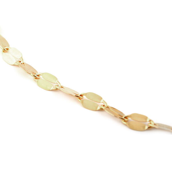 9K Yellow Gold Forzatina Chain Bracelet (Size 7.25)