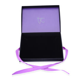 Luxury Black Necklace Gift Box With Purple Ribbon [22.1x17.1x4cm]