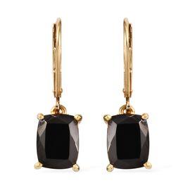 Elite Shungite (Cush) Lever Back Earrings in 14K Gold Overlay Sterling Silver 2.500 Ct.