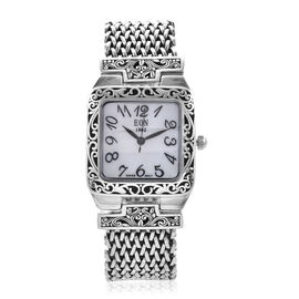 OTO- Royal Bali Collection EON 1962 Swiss Movement Water Resistant Watch (Size 6.5) in Sterling Silv