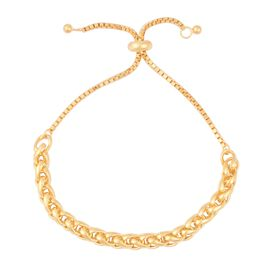Spiga Adjustable Bracelet in Gold Plated Sterling Silver 10.22 Grams